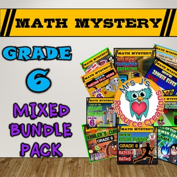 End of the Year Activities - 6th Grade Math Mysteries