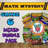 6th Grade Mixed Math Mystery Bundle Pack
