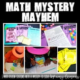 Math Mystery Mayhem {5 Math Stations with a Mystery to Solve}