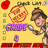 Math Mystery Menu Checklist & Guide - 4th Grade