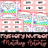 Math Mystery Numbers Matching Activity