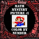 Math Mystery Picture #1 Color By Number