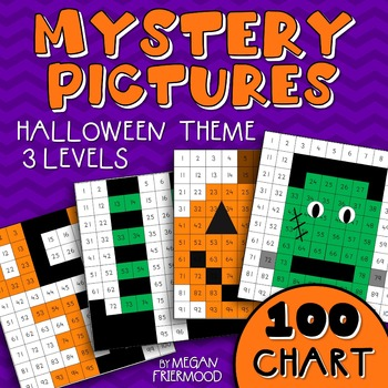 Halloween Math Mystery Pictures {100 Chart} *DIFFERENTIATED*