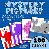Math Mystery Picture {100 Chart} Ocean Theme *DIFFERENTIATED*
