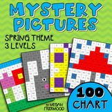 Math Mystery Picture {100 Chart} Spring Theme *DIFFERENTIATED*