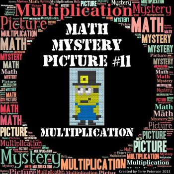 Math Mystery Picture #11 Multiplication -- Happy Thanksgiving!
