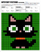 Math Mystery Picture (Black Cat) - Convert Mixed Numbers to Improper Fractions
