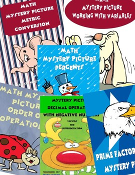 Math Mystery Picture Bundle