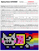 Math Mystery Picture (Flying Cat) - Input Output Tables (1-step equations)