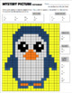Math Mystery Picture (Penguin) - Fractions into Simplest Form practice