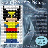 Math Mystery Picture - Wolverine