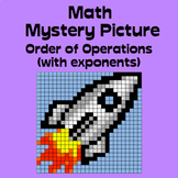 Math Mystery Picture (rocket) - Order of Operations (with exponents) practice