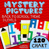 Math Mystery Pictures {120 Chart} Back to School Theme *DIFFERENTIATED*