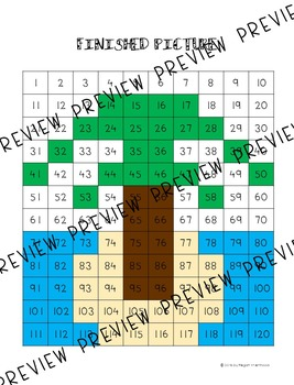 Math Mystery Pictures {120 Chart} Summer Theme *DIFFERENTIATED*