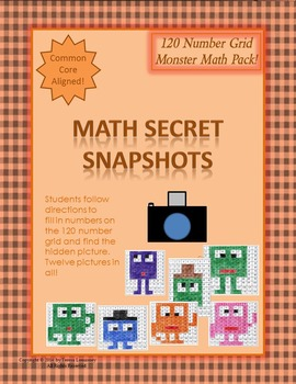Math Mystery Pictures Monster Pack 120 Grid Secret Snapshots