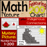 Math Back to School Grade 2: Aboriginal and Nature Designs on 200 charts