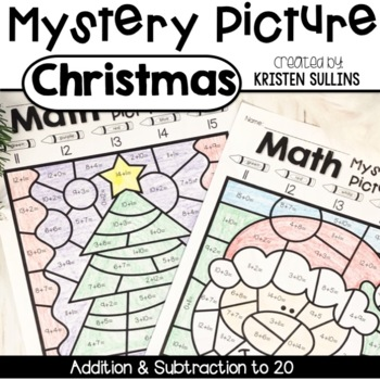 Math Mystery Pictures- Christmas Edition