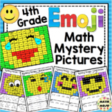 4th Grade Emoji Math Mystery Pictures: 4th Grade Math Skills