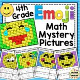 4th Grade Emoji Math Mystery Pictures: 4th Grade Math Skills
