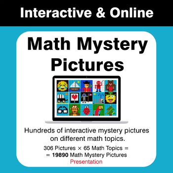 19.000+ Math Mystery Pictures - Interactive & Online