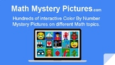 Math Mystery Pictures - Interactive & Online