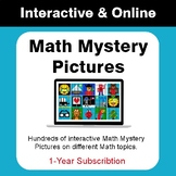 Math Mystery Pictures - Interactive & Online - Distance Learning