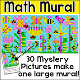Addition and Subtraction Hidden Picture Mural - Spring Activities - Pixel Art