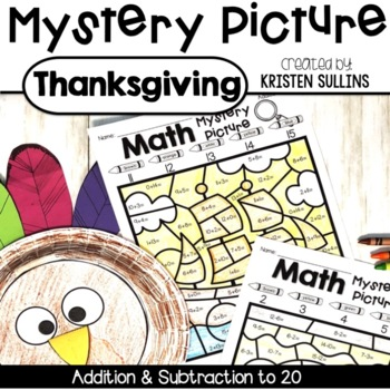 Math Mystery Pictures- Thanksgiving Edition