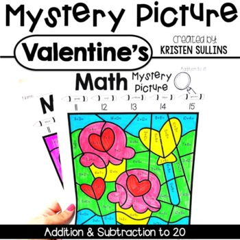 Math Mystery Pictures- Valentine Edition