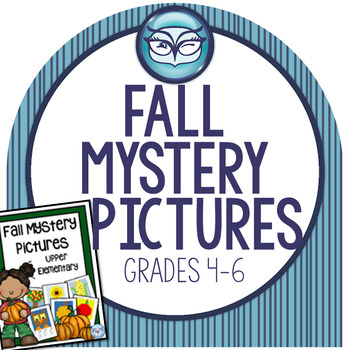 Math Mystery Pictures for Intermediate Grades - Fall Themed