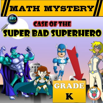 Kindergarten Superhero Math Mystery