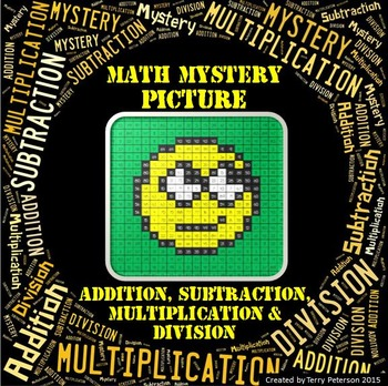 Math Mystery Emoji #2 Picture Addition Subtraction Multiplication Division