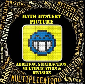Math Mystery Smiley #3 Picture Addition Subtraction Multiplication Division