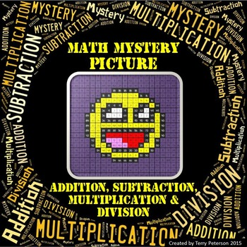 Math Mystery Smiley #4 Picture Addition Subtraction Multip