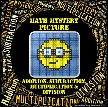 Math Mystery Smiley #6 Picture Addition Subtraction Multip