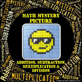 Math Mystery Emoji Picture #1 Addition Subtraction Multiplication Division