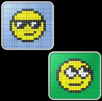 Math Mystery Emoji Picture BUNDLE Addition Subtraction Multiplication Division