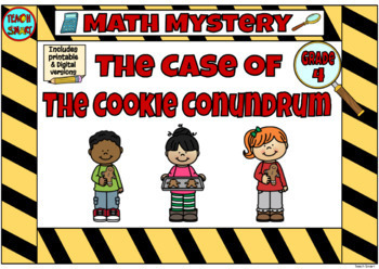Math Mystery The Case of the Christmas Cookies (Grade 4)
