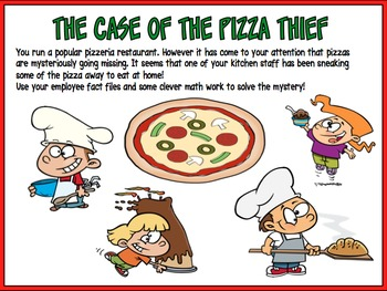 Math Mystery The Case of the Pizza Thief (Grade 3)