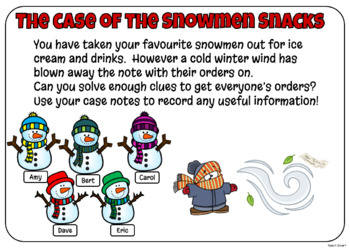 Math Mystery The Case of the Sneaky Snowman Grade 2