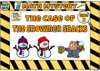 Math Mystery The Case of the Sneaky Snowman Grade 3