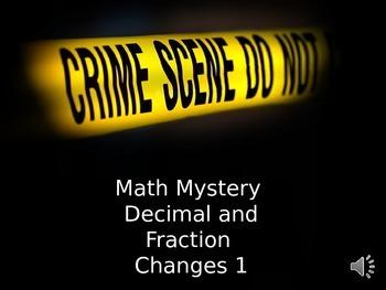 Math Mystery fractions/decimal change 1