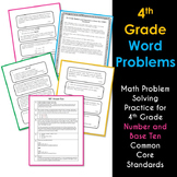 Math NBT Word Problems 4th Grade Common Core