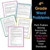 Math NBT Word Problems 4th Grade Common Core