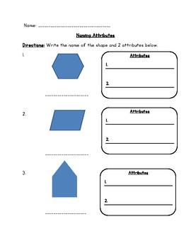 Math- Naming Attributes