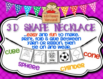 {Math Necklace} These are the 3D Shapes That I Know!