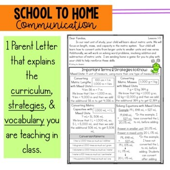 Math Newsletter & Game 4th Grade Module 2 Engage New York/ Eureka Math
