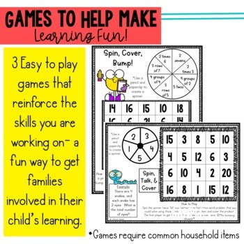Math Newsletters & Games 3rd Grade Module 1 Engage New York