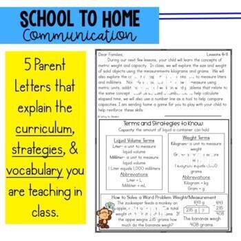 Math Newsletters & Games 3rd Grade Module 2