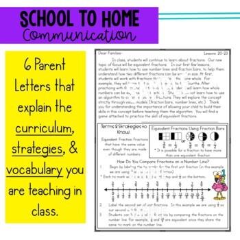 Math Newsletters & Games 3rd Grade Module 5